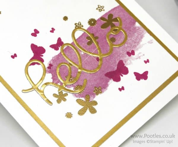 Stampin' Up! Demonstrator Pootles - Hello You Golden Perpetual Birthday Golden Detail