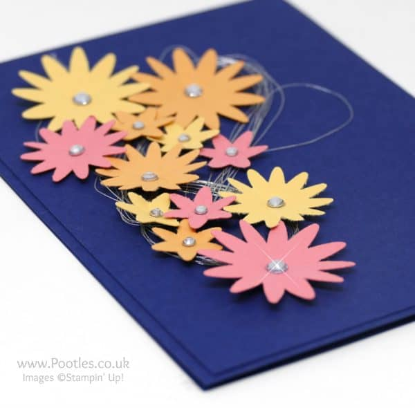 Stampin' Up! Demonstrator Pootles - Midnight Flowers with Subtles Blossom Bunch Punch