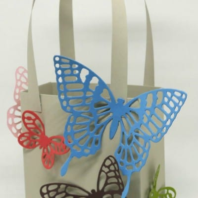 Butterfly Bag using Stampin' Up! Thinlits