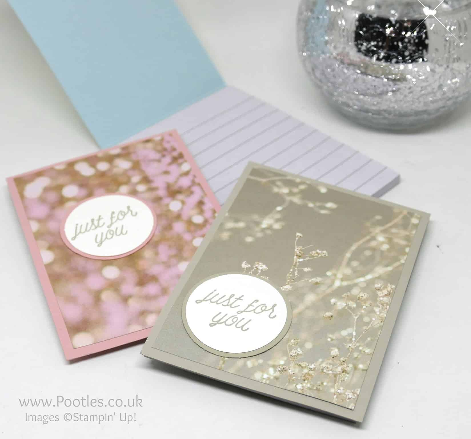 Falling In Love Stampin' Up! Customer Thank You Notebooks