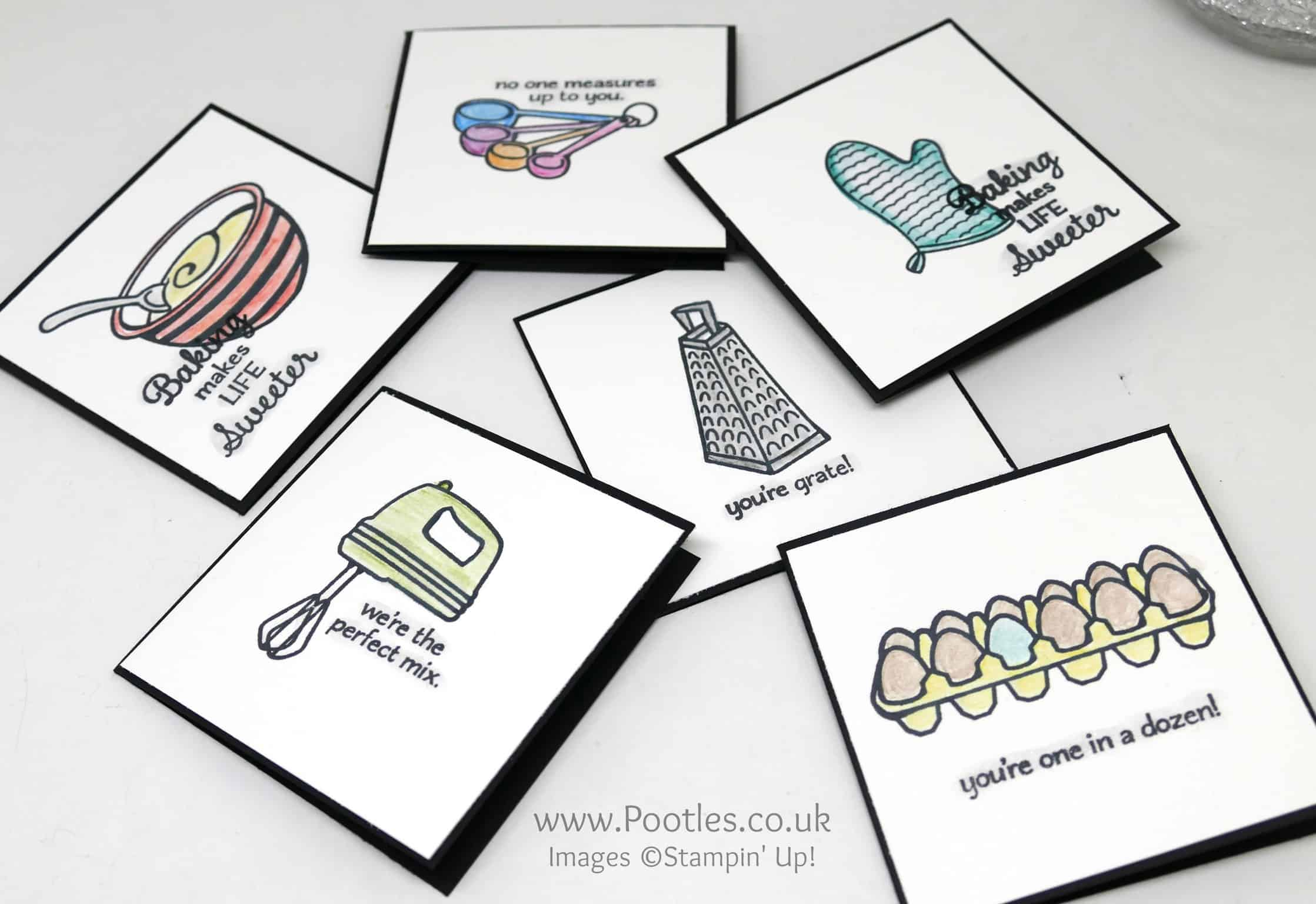 Perfect Mix Watercolour Pencil Set of 3×3 Cards
