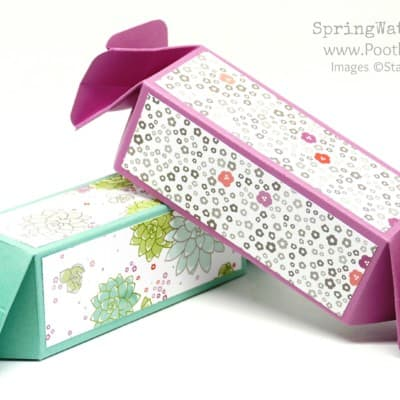Pootles SpringWatch 2017 Candy Wrap Box, No Die Needed!