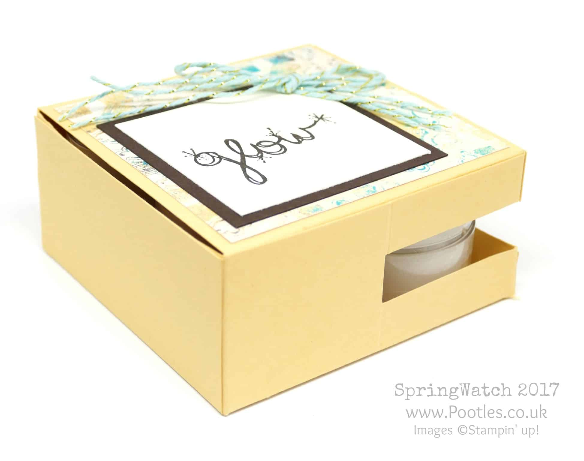 Pootles SpringWatch 2017 Scented Candle Peep Hole Box