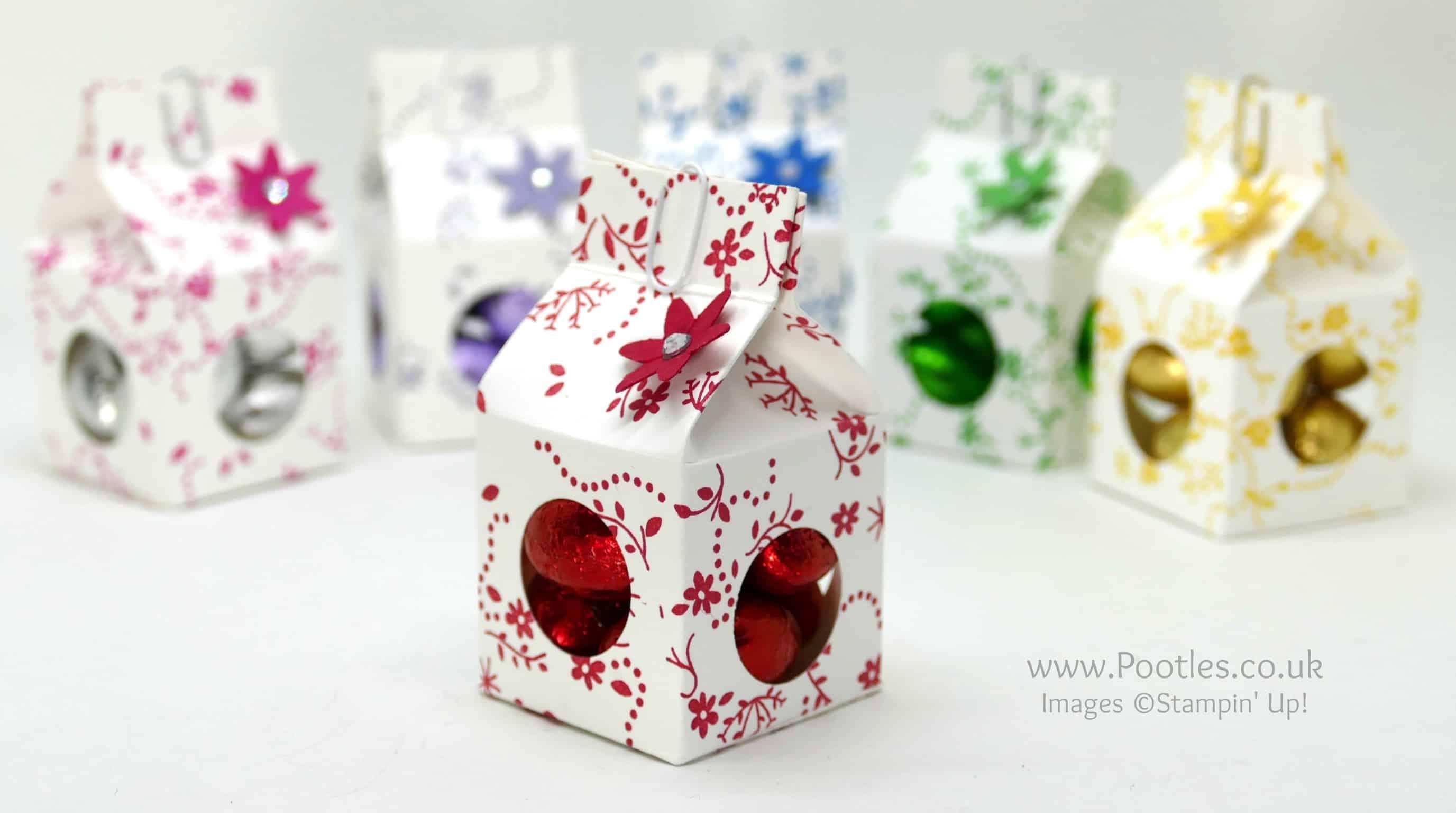 Tiny Milk Carton Chocolate Egg Boxes