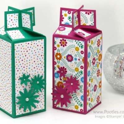 Twist Close Cross Top Box with Stampin' Up! Festive Paper