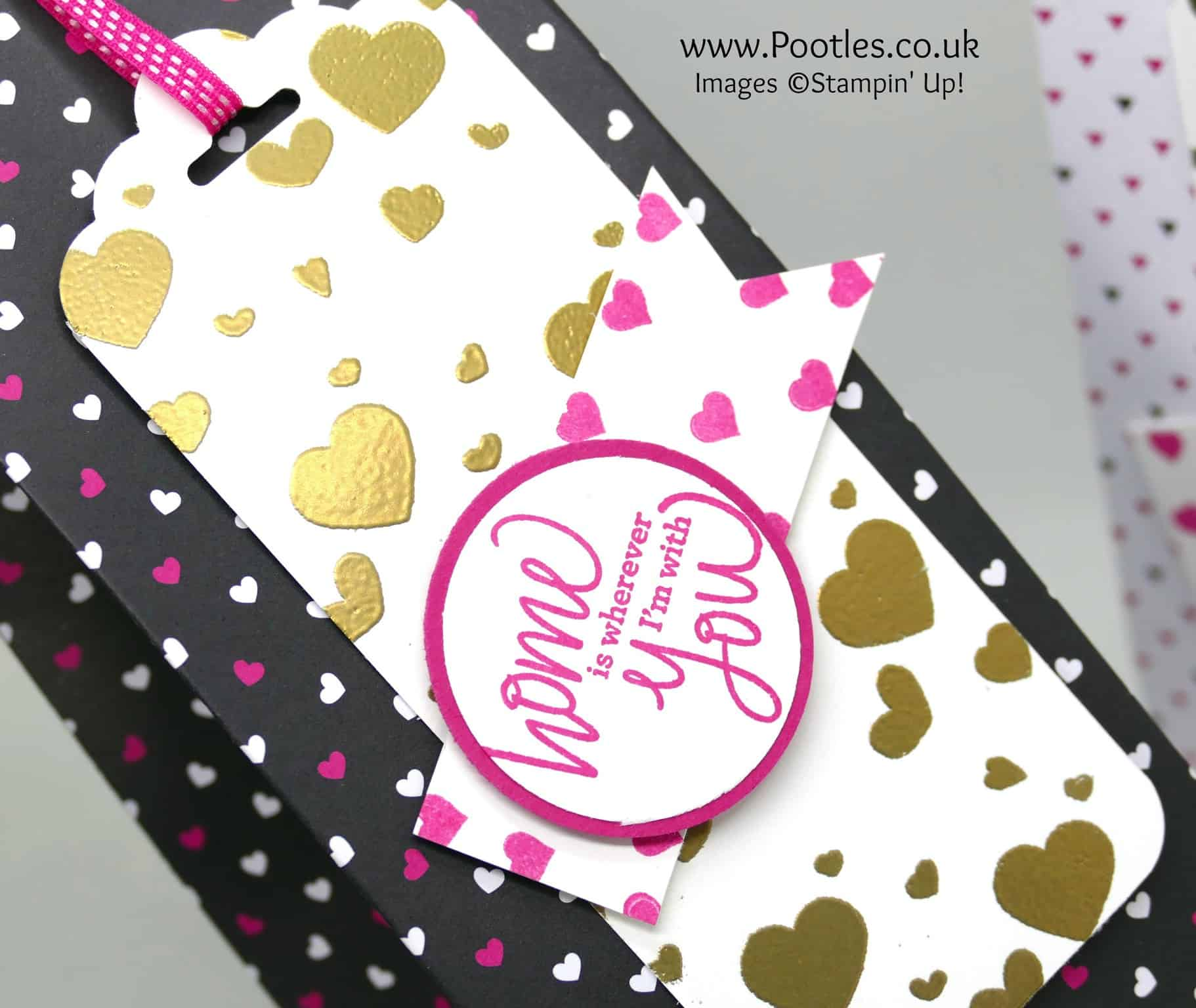 Huge Pinch Close Bag using Stampin' Up! Pop of Pink