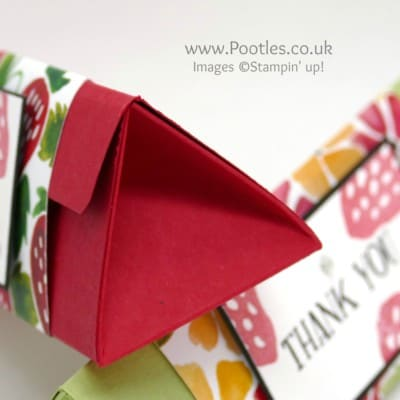 Large Triangular Box using Stampin' Up! Fruit Stand Paper