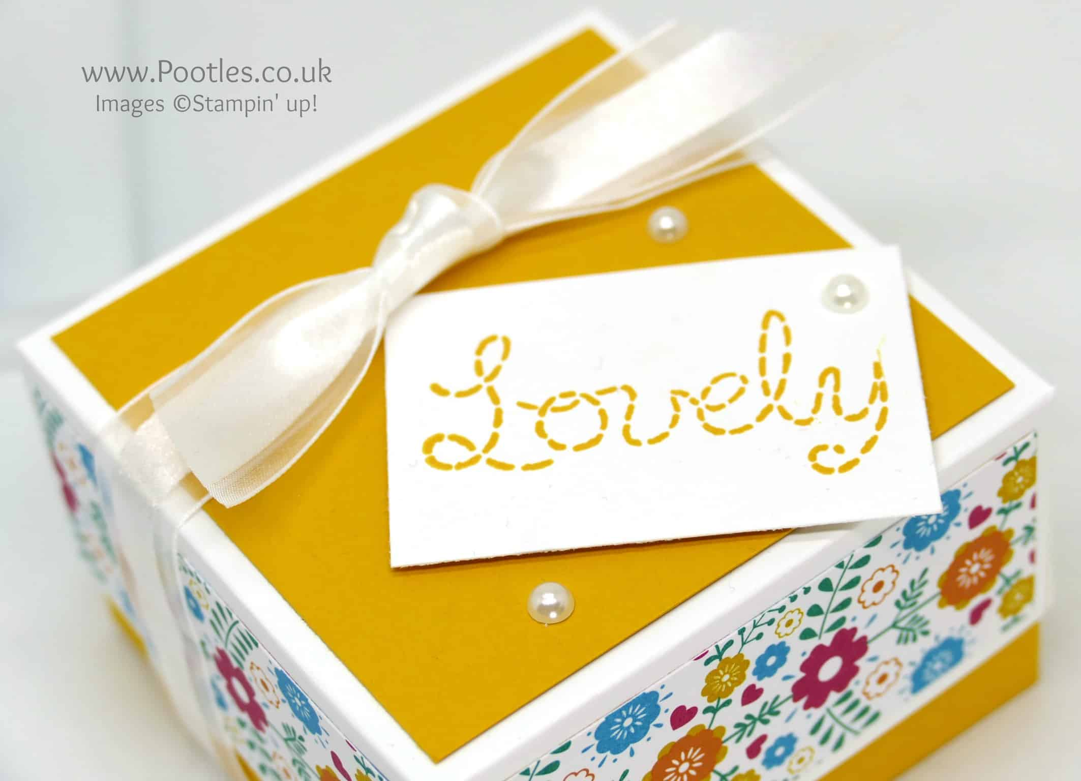 Lidded Box for 3×3 Cards using Stampin' Up! DSP