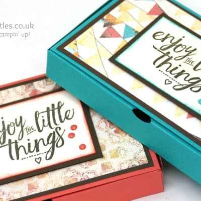 No Glue Foldable Box Using Stampin' Up! Cupcakes & Carousels