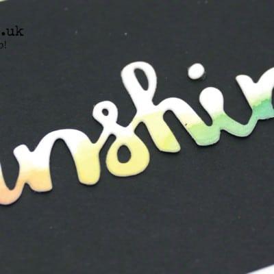 Sunshine Wishes Watercoloured Rainbow