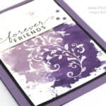 Watercolour Smooshing using Stampin' Up! Inks