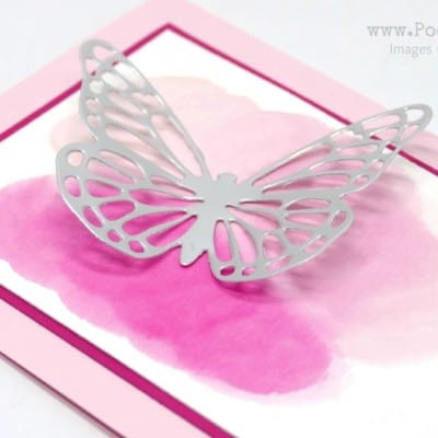 Watercoloured Pink and Silver Butterflies Thinlits