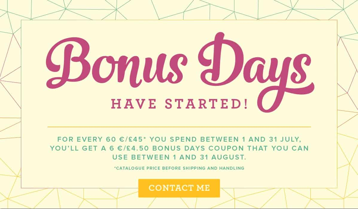 Bonus Days from Stampin' Up! are back!!!