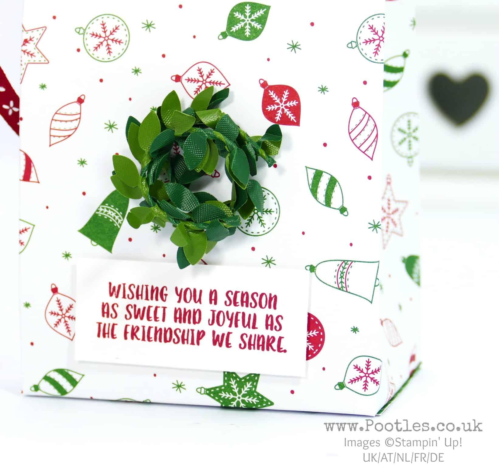 Christmas in July Big Bag using Be Merry Designer Paper