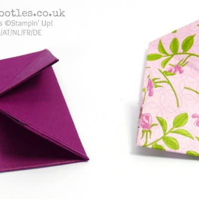 Fold Flat Lidded Gift Box using Stampin' Up! Petal Garden