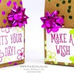 Mini Wishes Bag using Stampin' Up! Foil Frenzy