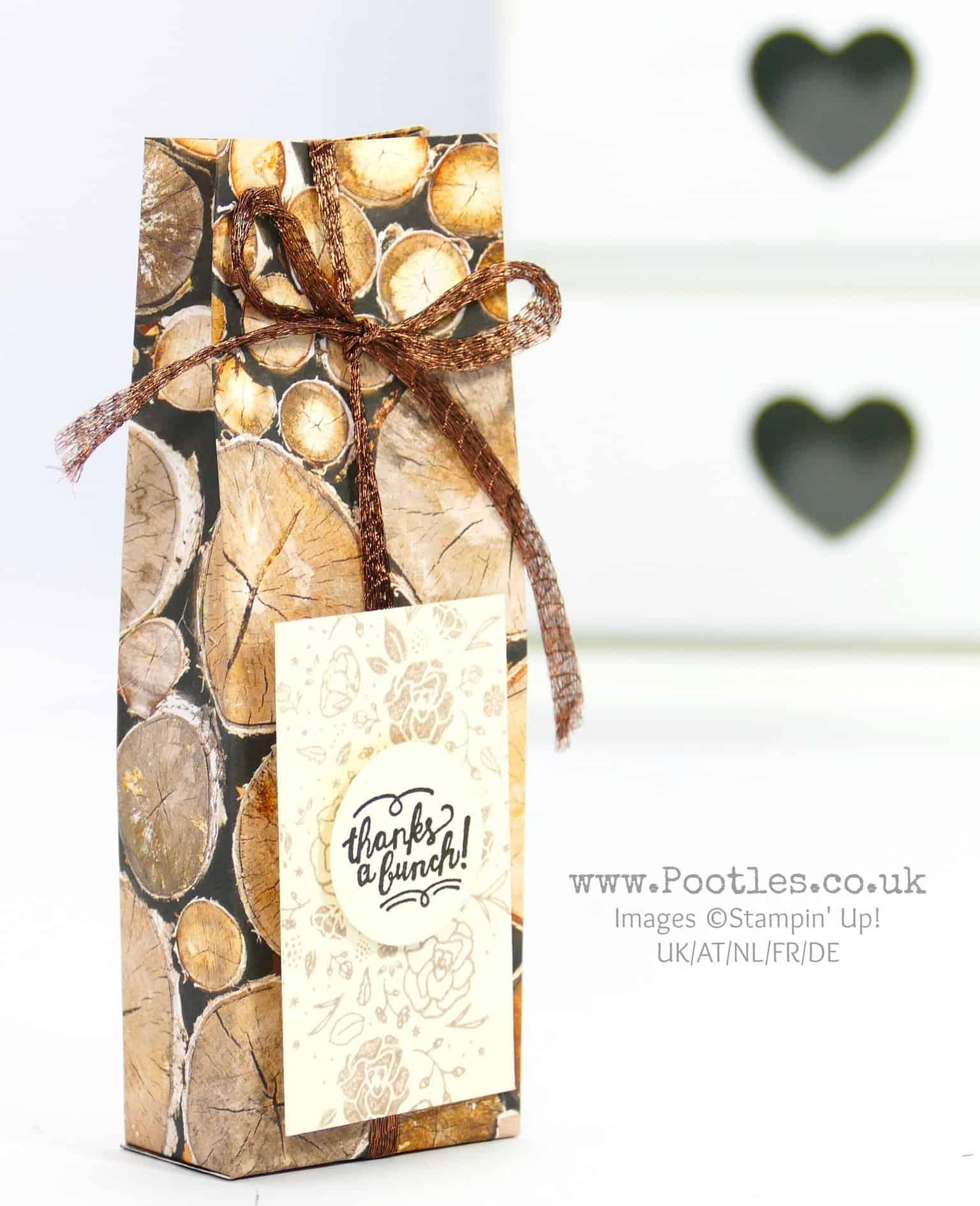 Pootlers' Team Retreat Wood Textures Treat Bag