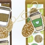 Tall Skinny Latte Box using Stampin' Up! Coffee Break Suite