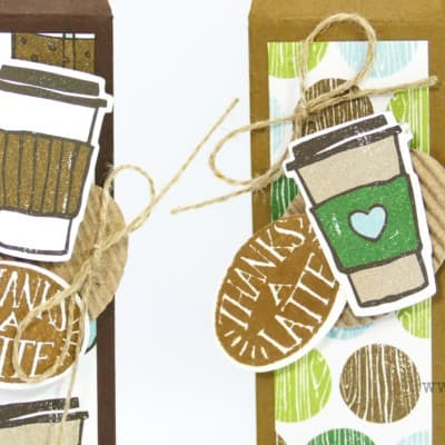 Tall Skinny Latte Box using Stampin' Up! Coffee Break Suite