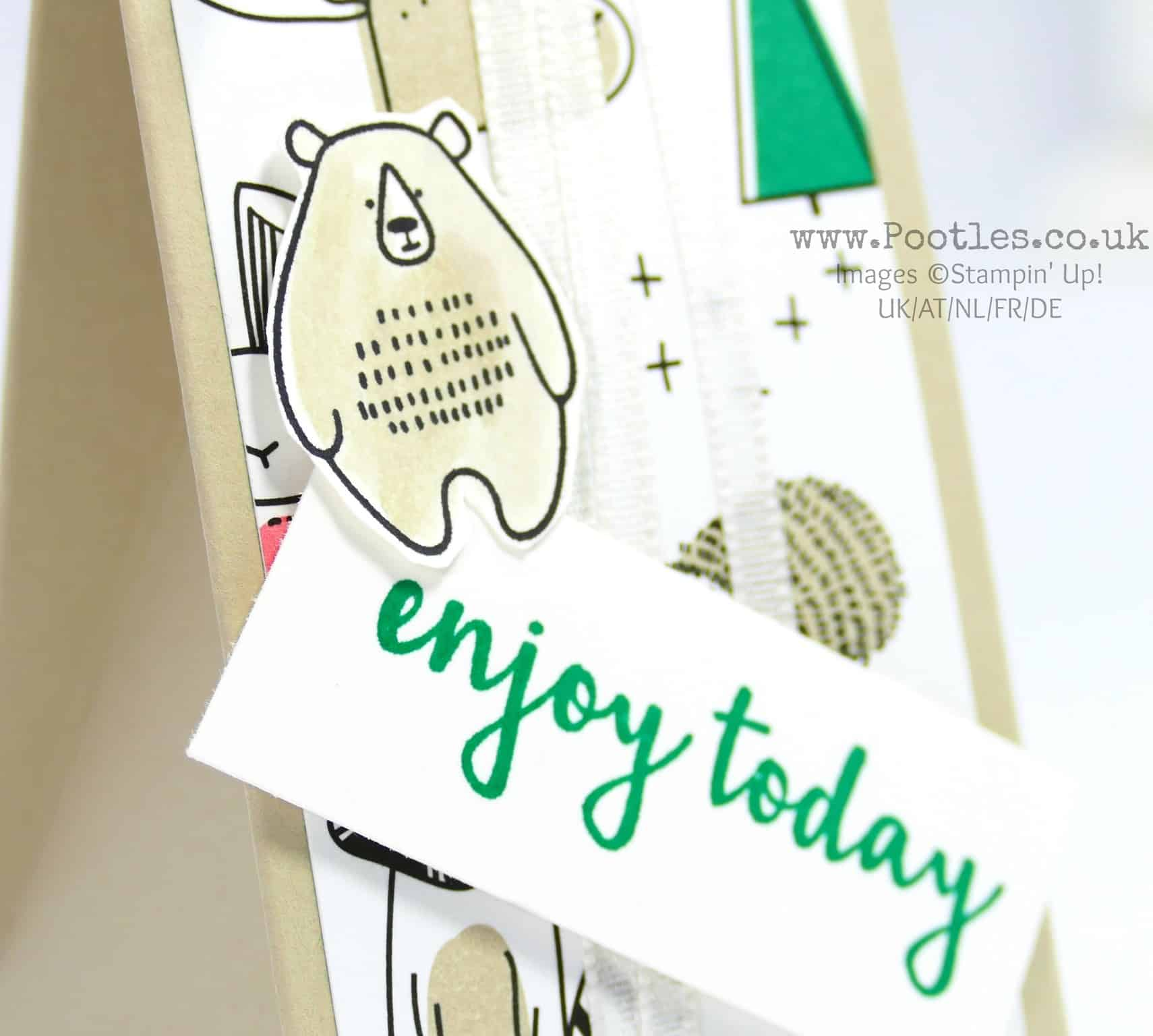 Triangle Box using Stampin' Up! Pick a Pattern DSP