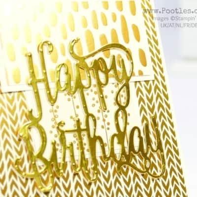 Golden Vanilla Birthday with Bundle of Love