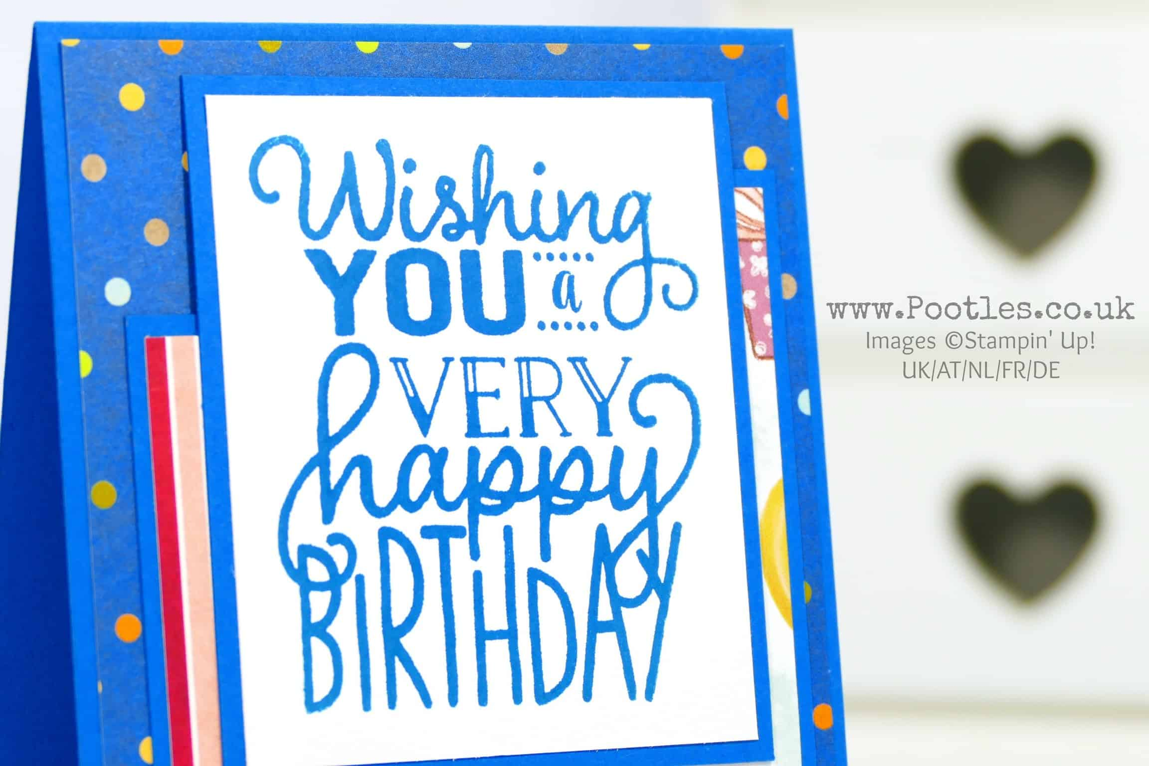 Big On Birthday Memories Paper and Stamps