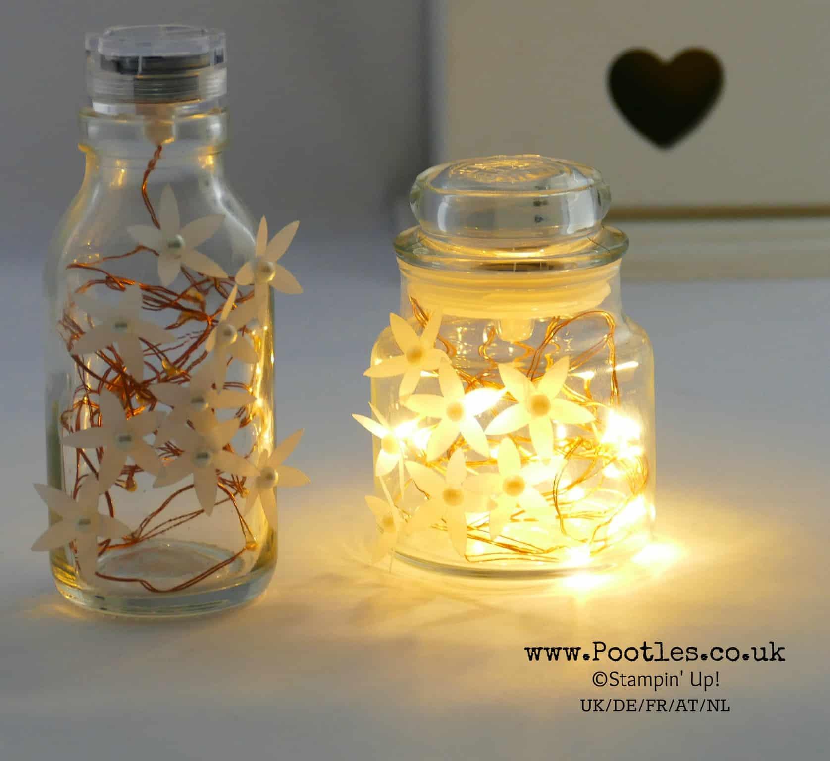 Stampin' Up! Blossom Builder Yankee Jar Fairy Light Jar