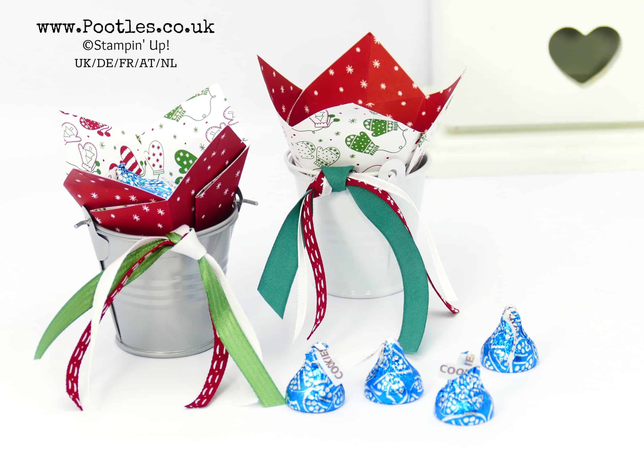 Bucket of Hershey Kisses using Stampin' Up! Supplies
