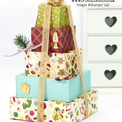 Pootles Advent Countdown 2017 #3 Stack of Christmas Gift Boxes