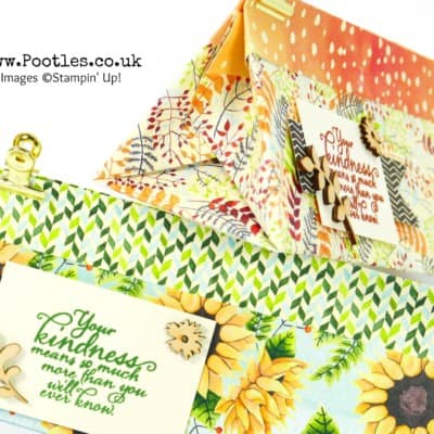 Beautiful Stampin' Up! Painted Autumn Triangular Gift Bag