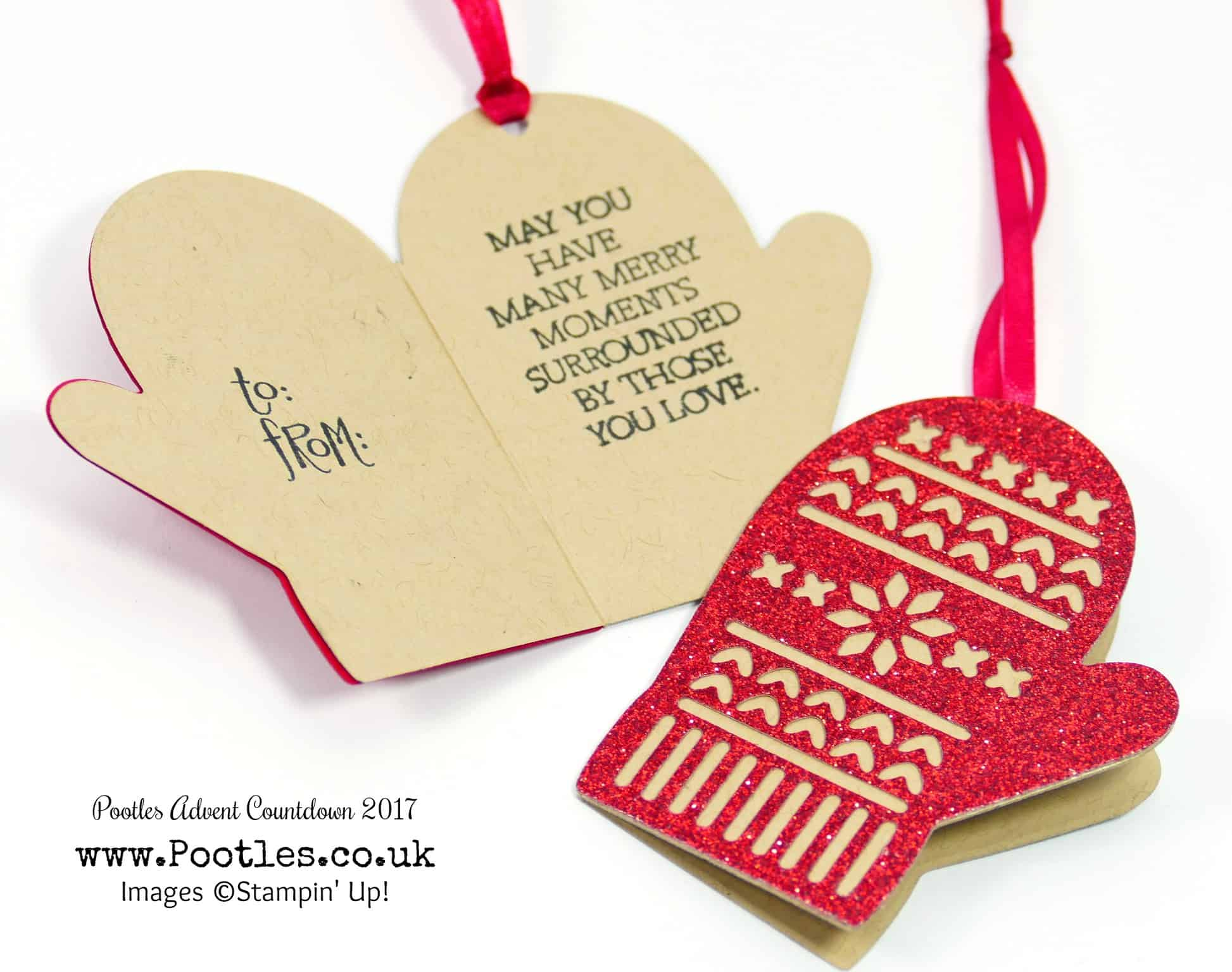 Pootles Advent Countdown 2017 #10 Smitten Mitten Hinged Glimmer Gift Tags