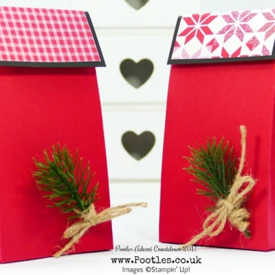 Pootles Advent Countdown 2017 #12 Stylish Red Gift Bags