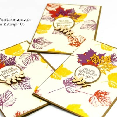 Autumnal Customer Thank You Cards using Gourd Goodness and Seasonal Layers
