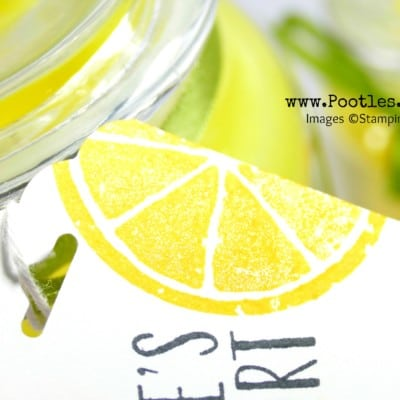 Yankee Candle Gift Tag using Stampin' Up! Lemon Zest Stamp and Punch