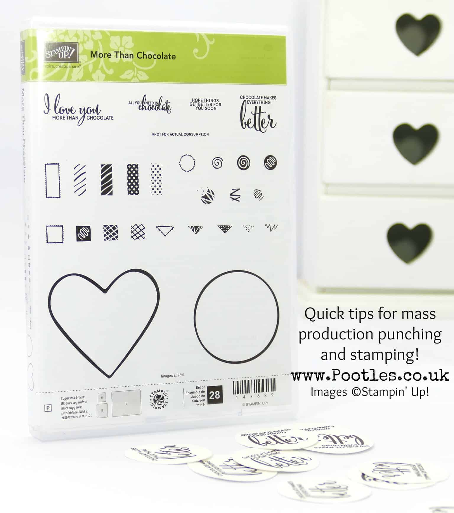 Stampin' Up! Pootles Tips Choosing a Block & Quick Mass Production Crafting
