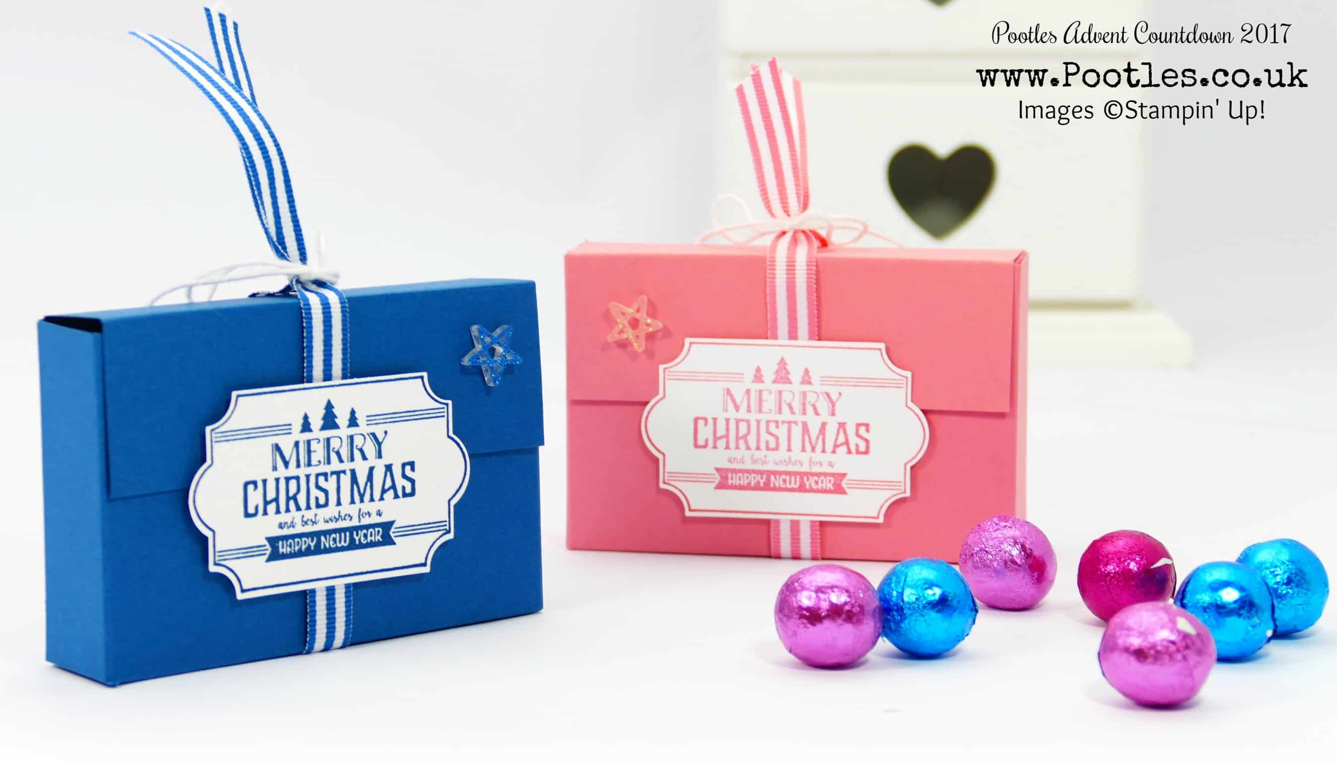 Pootles Advent Countdown 2017 #14 Adorable Box for Foiled Chocolates