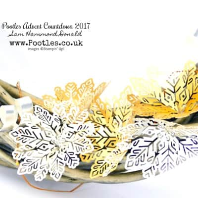 Pootles Advent Countdown #21 Snowflake and Curled Foil Wreath