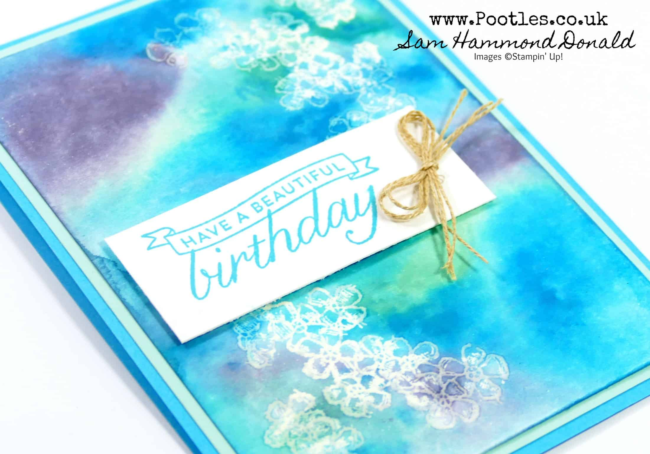 Watercolour Dripping with Stampin' Up! Reinkers