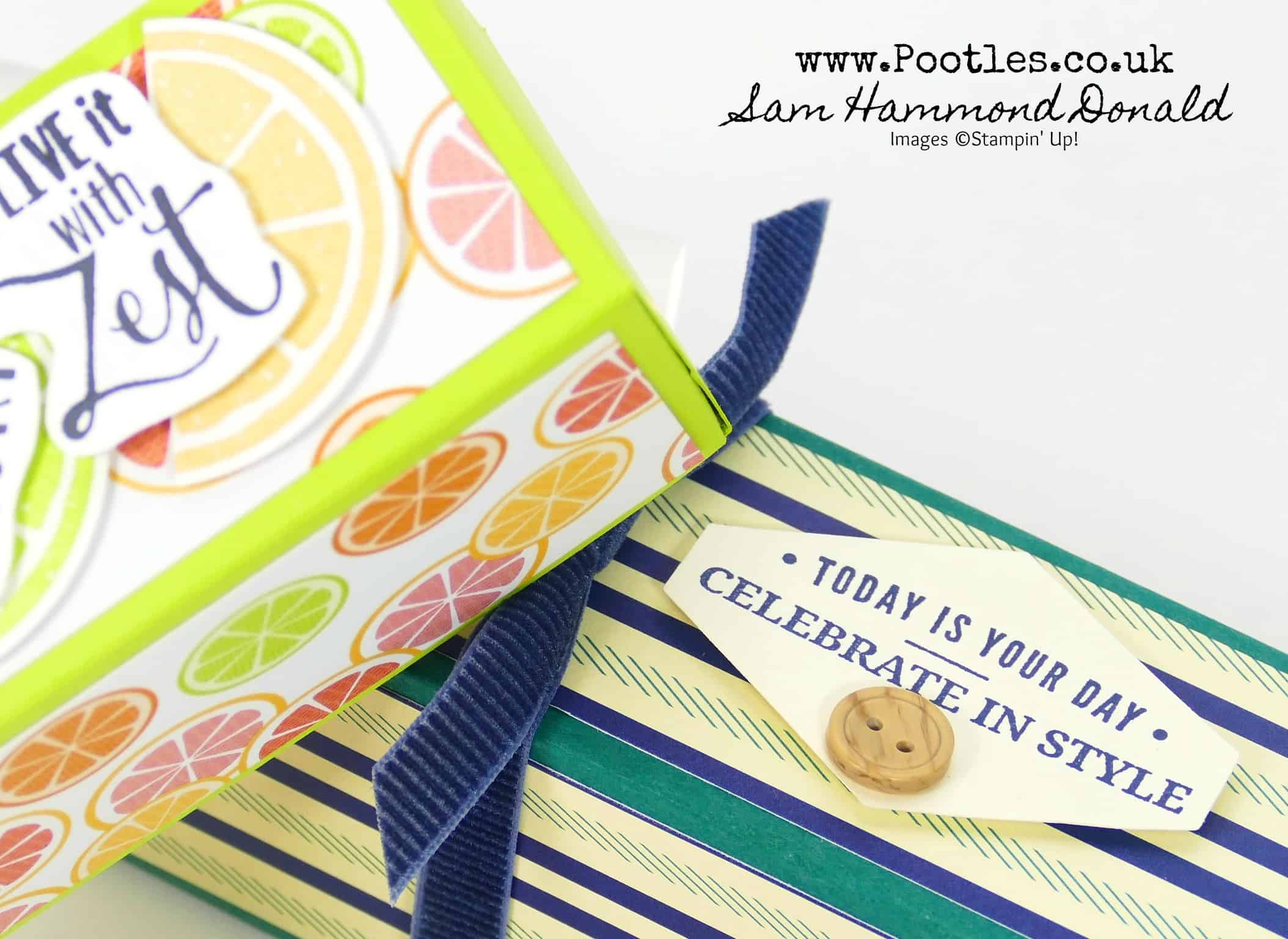 Fold Flat Easy Stick Box Tutorial using Stampin' Up! Supplies