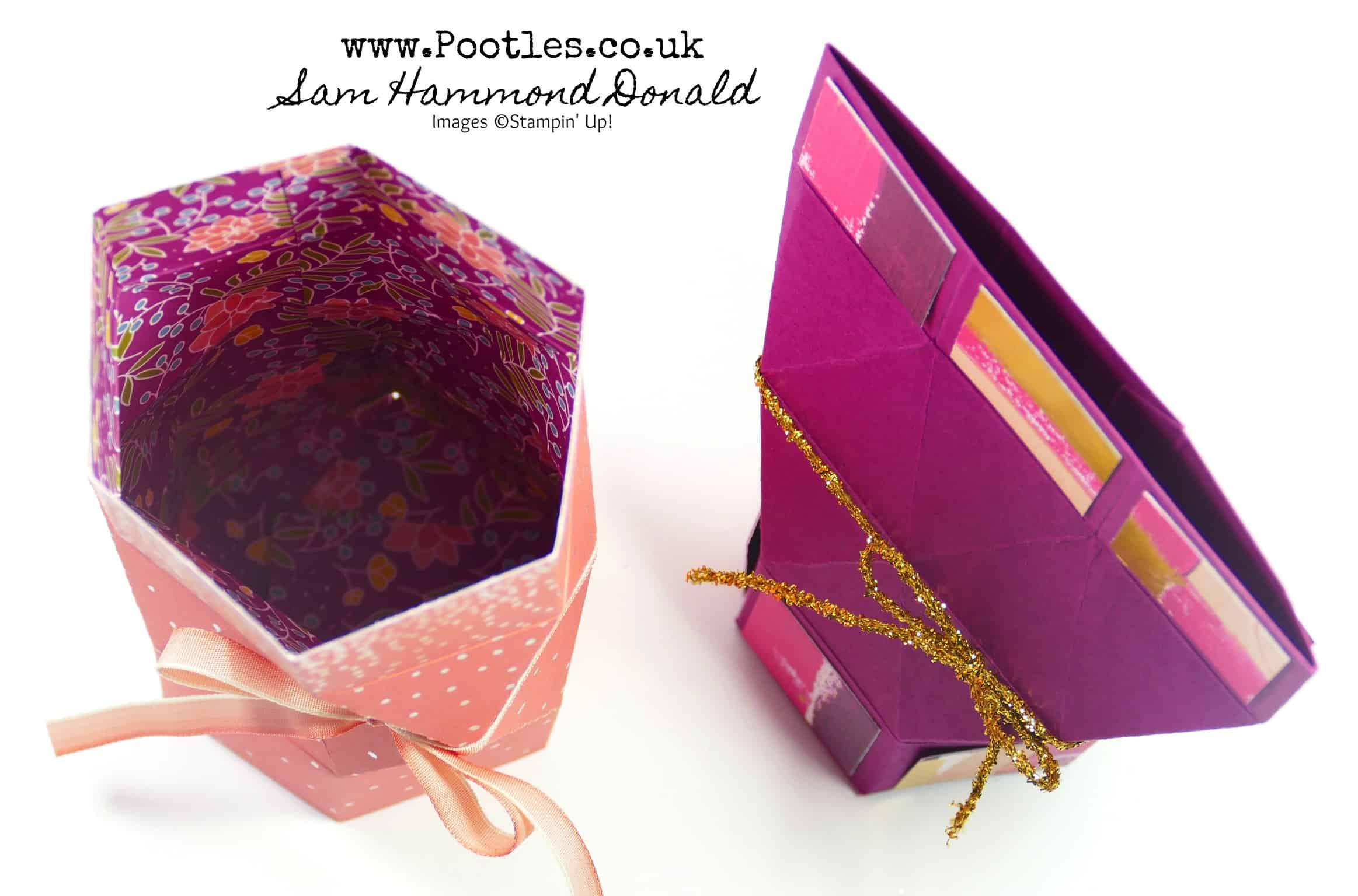 How to make a Self Closing AND Hold Open Faceted Treat Box Bag