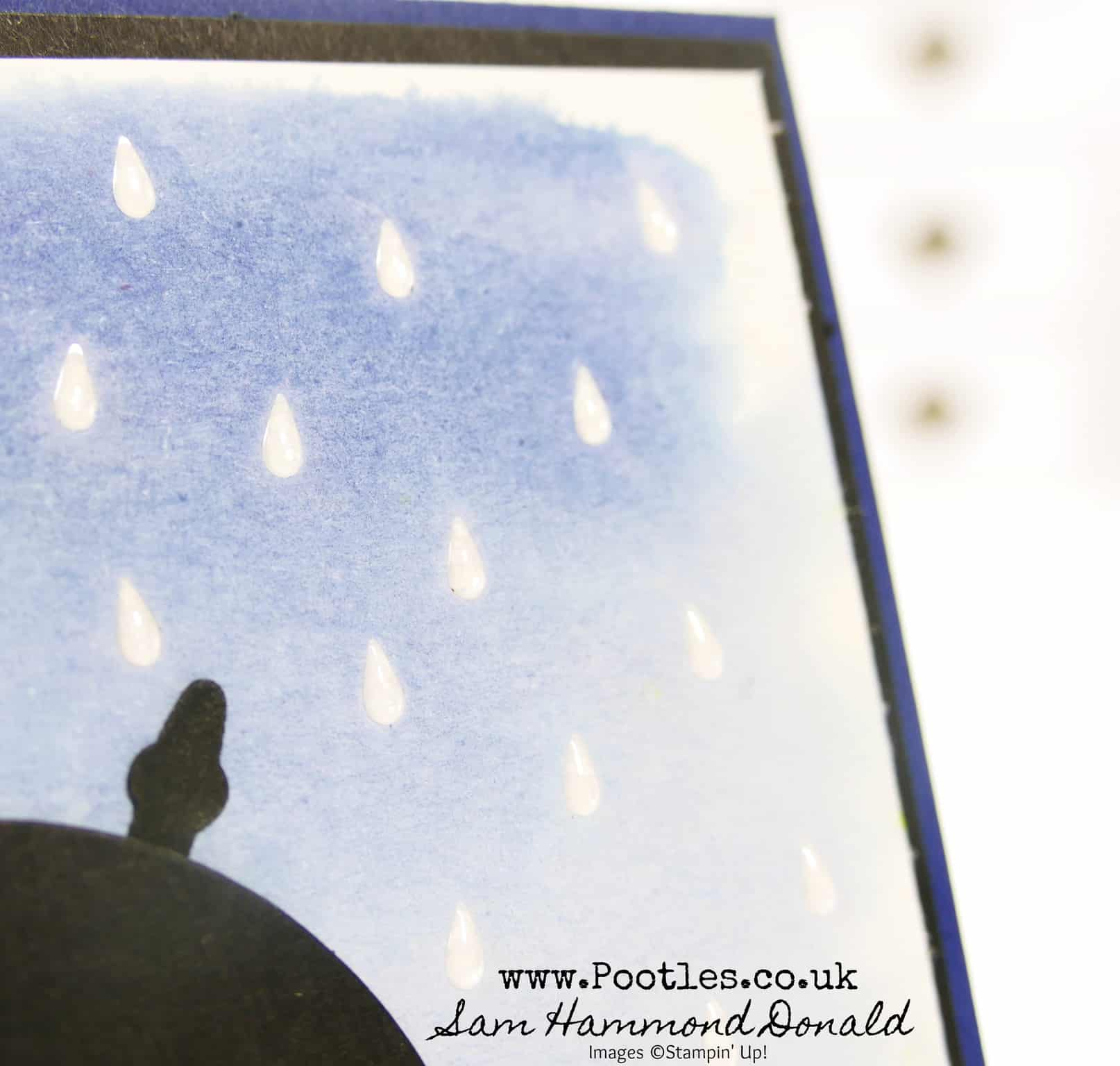 Watercolour Raindrops on Umbrella Weather Together