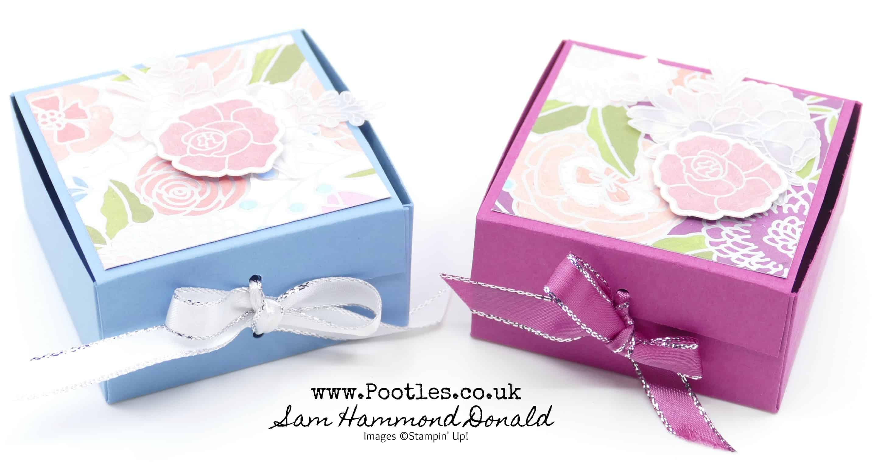 Easy Fold Flat Ribbon Close Box Tutorial