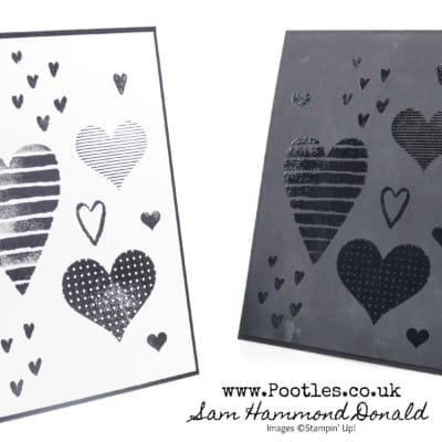 Heat Embossed Heart Happiness Cards