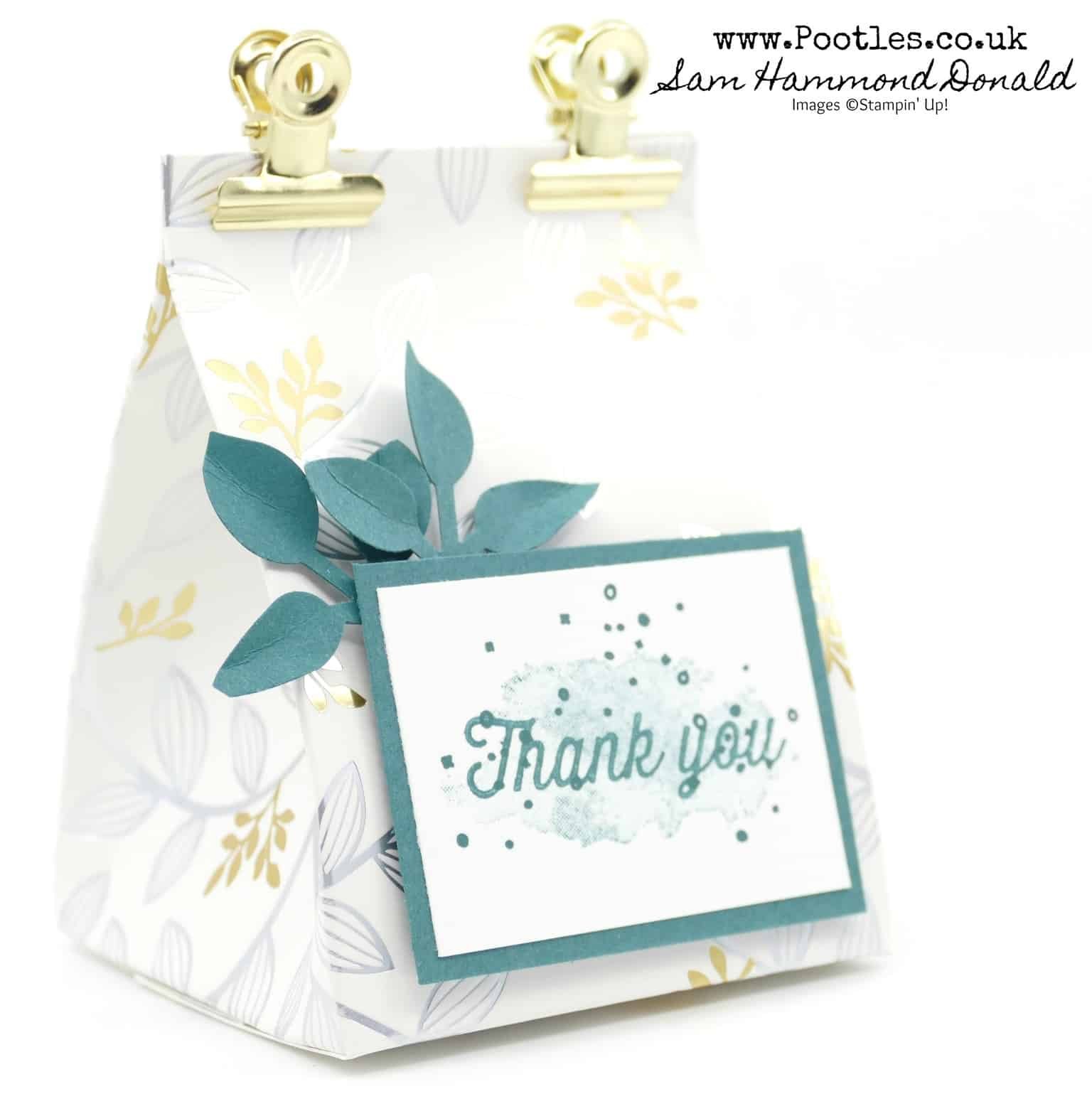Stampin' Up! Sale a Bration Springtime Foil Fat Bag Tutorial