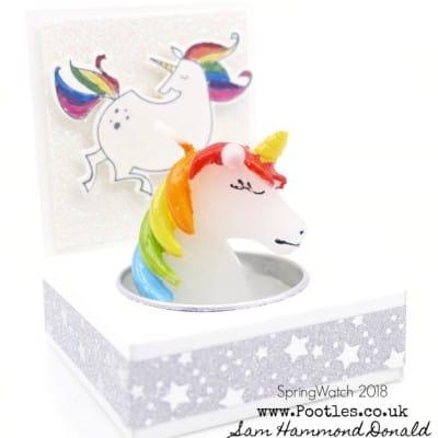 SpringWatch 2018 Rainbow Unicorn Candle Gift Tutorial