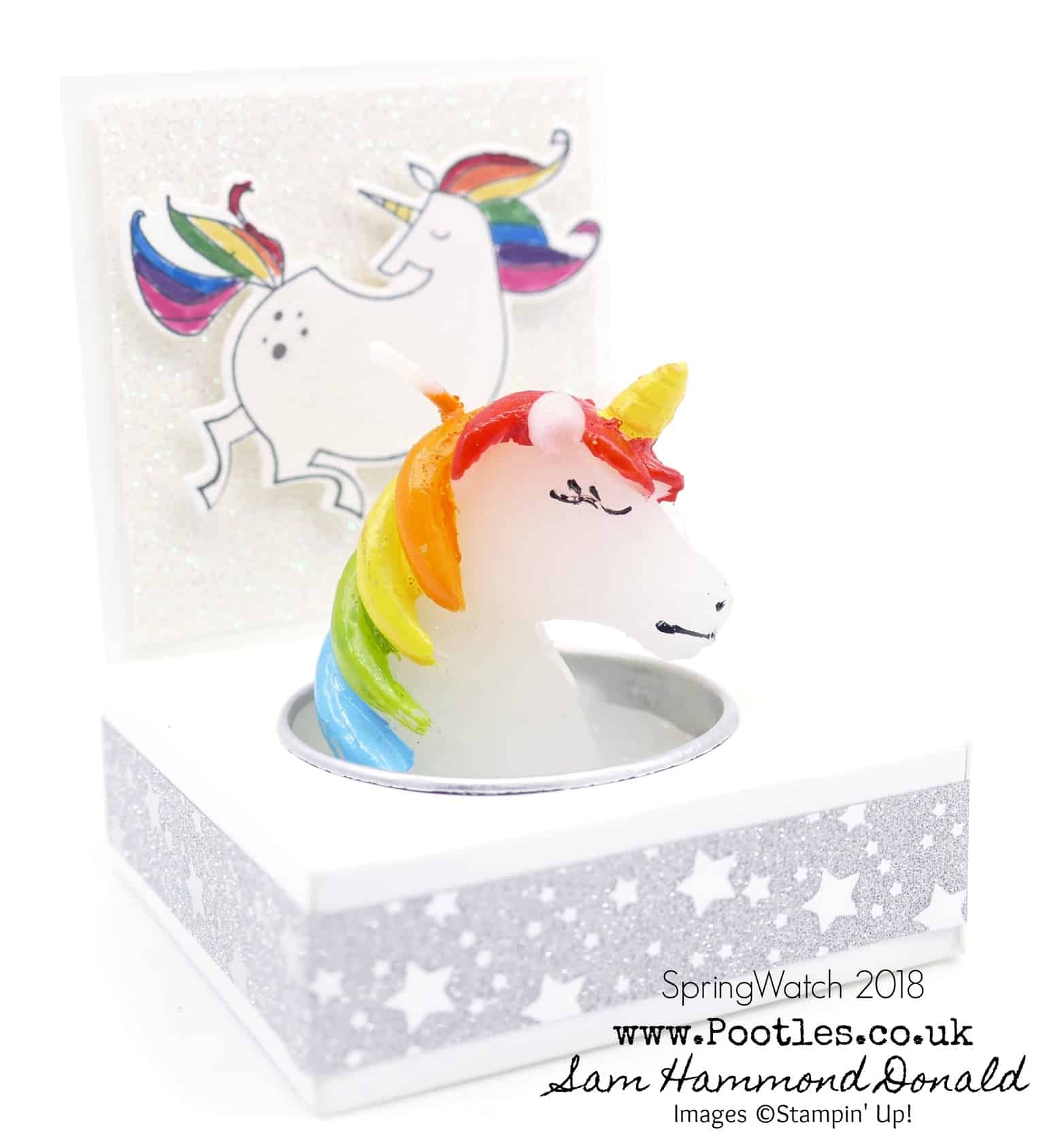 SpringWatch 2018 Rainbow Unicorn Candle Gift Tutorial