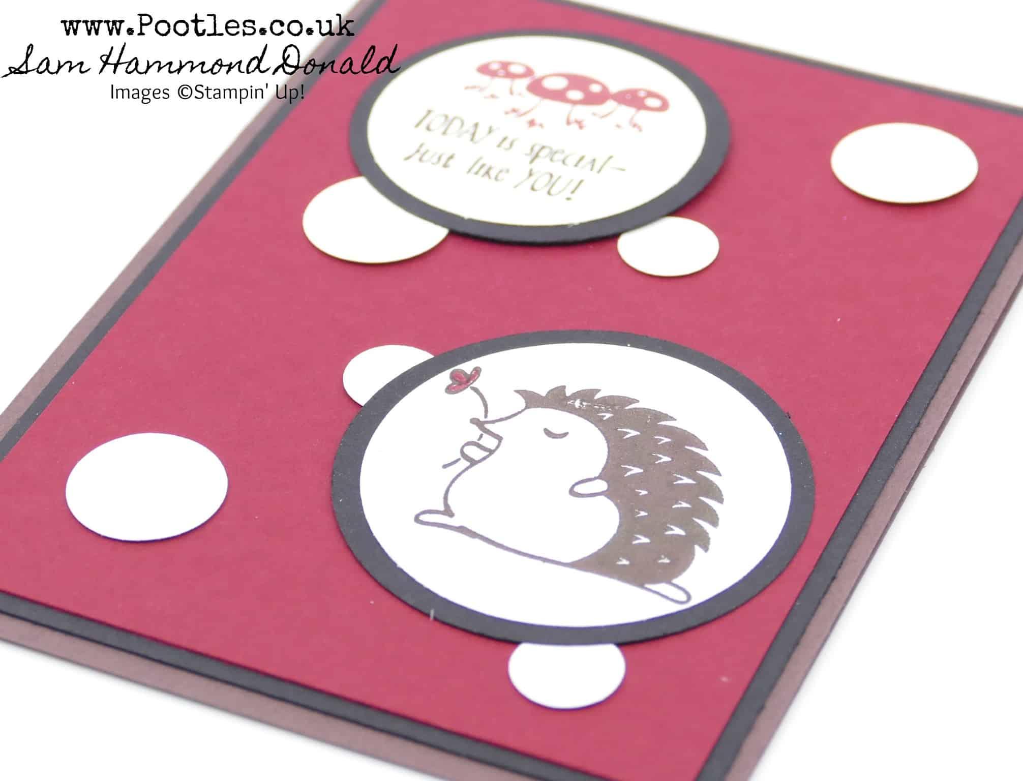 Toadstool Hedgehugs Card for Pootlers Team Swaps!