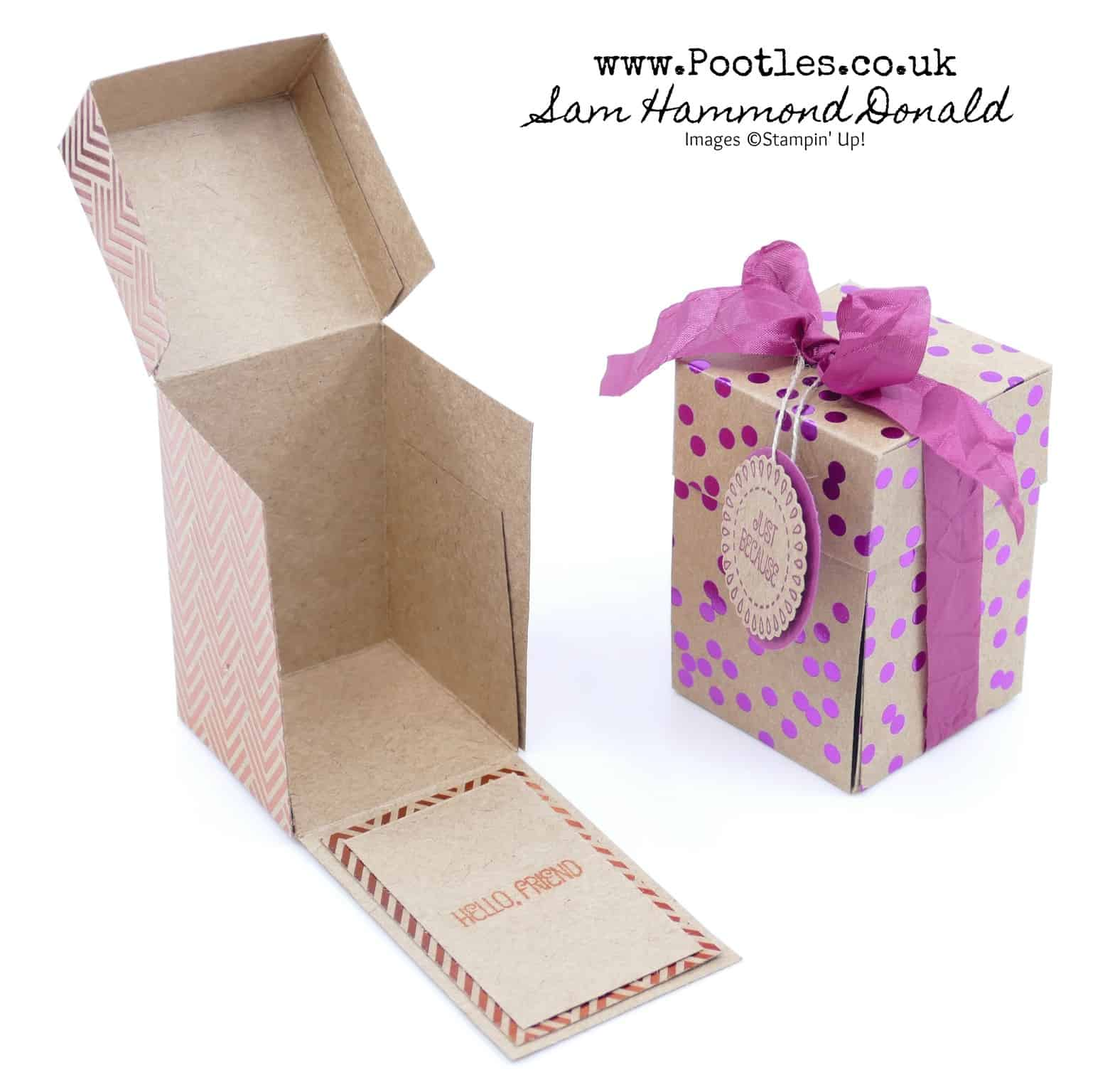 Foil Frenzy Drop Fronted Treat Box Tutorial