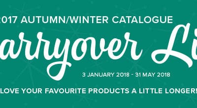 Autumn Winter Carryover Favourites…