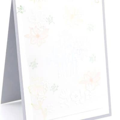 Flirty Flowers, Heat Embossing, Vellum. All on one card!